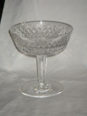 Waterford Crystal Sherbet Champagne Alana Pattern Slight