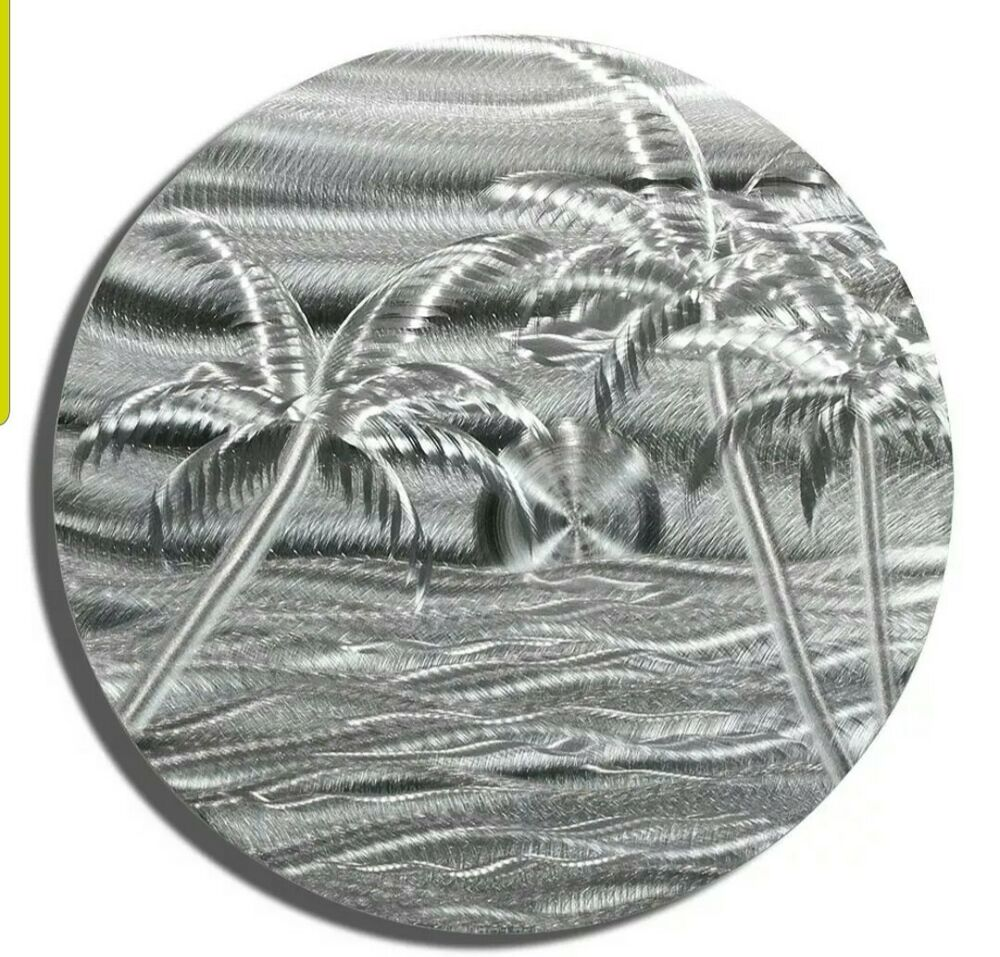 Modern Abstract Silver Metal Wall Art Sculpture Silver ...