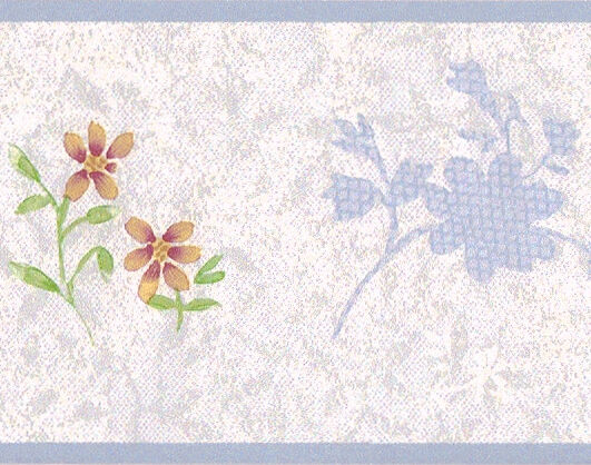 Pastel baby blue floral flower lace nursery norwall pp79064 wall paper border ebay - Pastel lace wallpaper ...