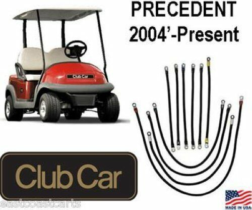 club car iq precedent golf cart 2 gauge battery power cable kit ebay. Black Bedroom Furniture Sets. Home Design Ideas
