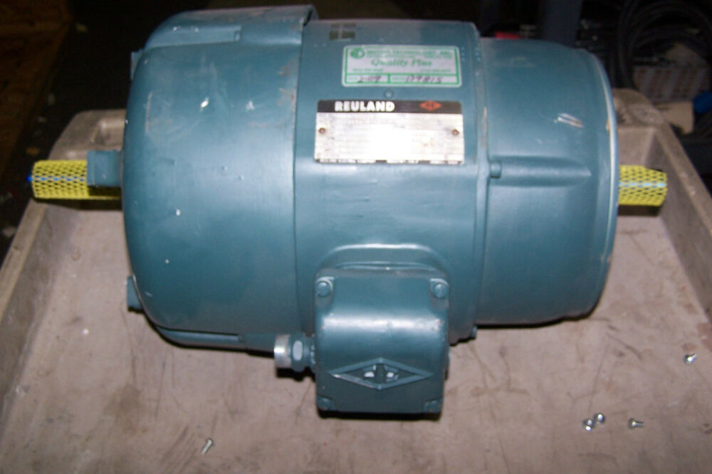 Reconditioned reuland 3 hp dual shaft electric motor 213 for Electric motor shaft repair