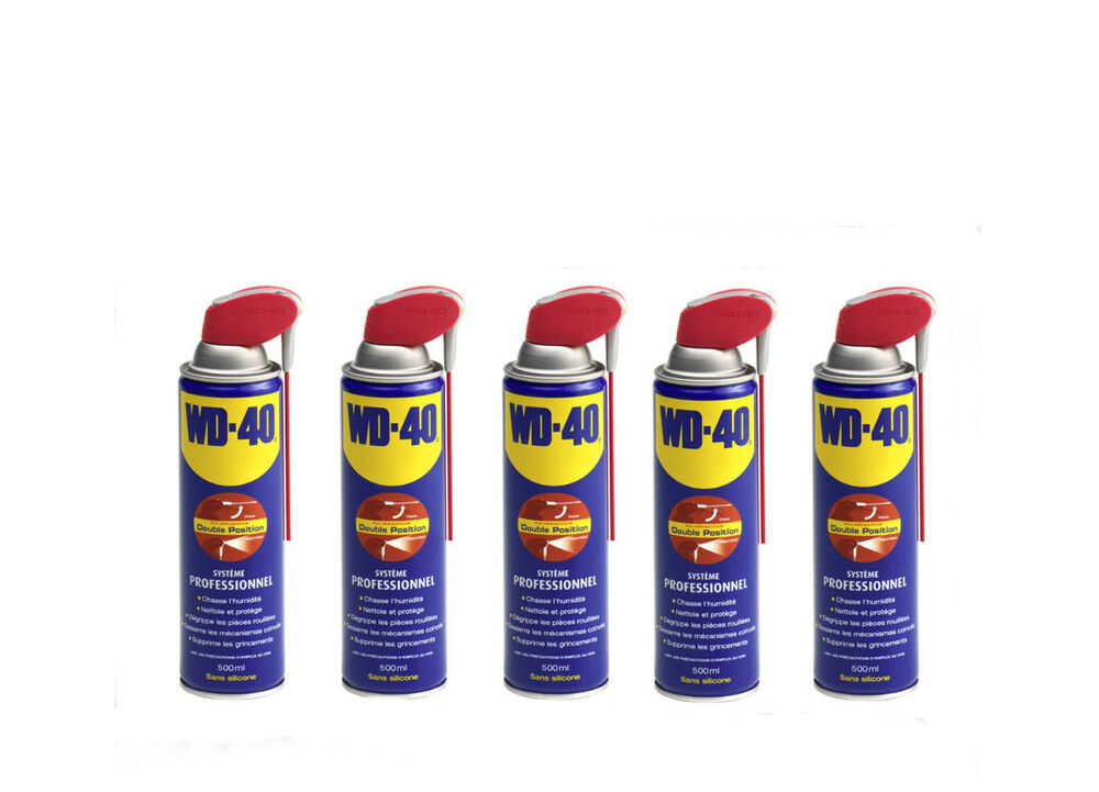 d grippant wd40 lot de 5 x wd 40 500ml pro bombe nettoyant anti humidit neuf ebay. Black Bedroom Furniture Sets. Home Design Ideas