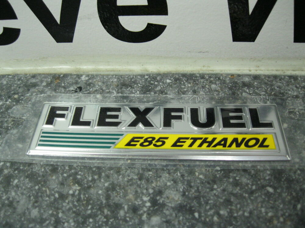 chrysler dodge jeep flex fuel e85 ethanol emblem decal nameplate badge mopar oem ebay. Black Bedroom Furniture Sets. Home Design Ideas