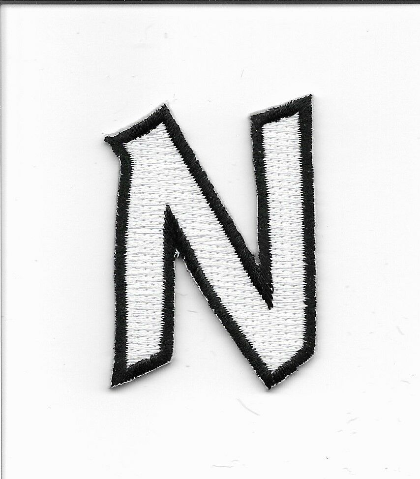embroidered letter patches letter n embroidered iron on alphabet patch w0019n ebay 21477
