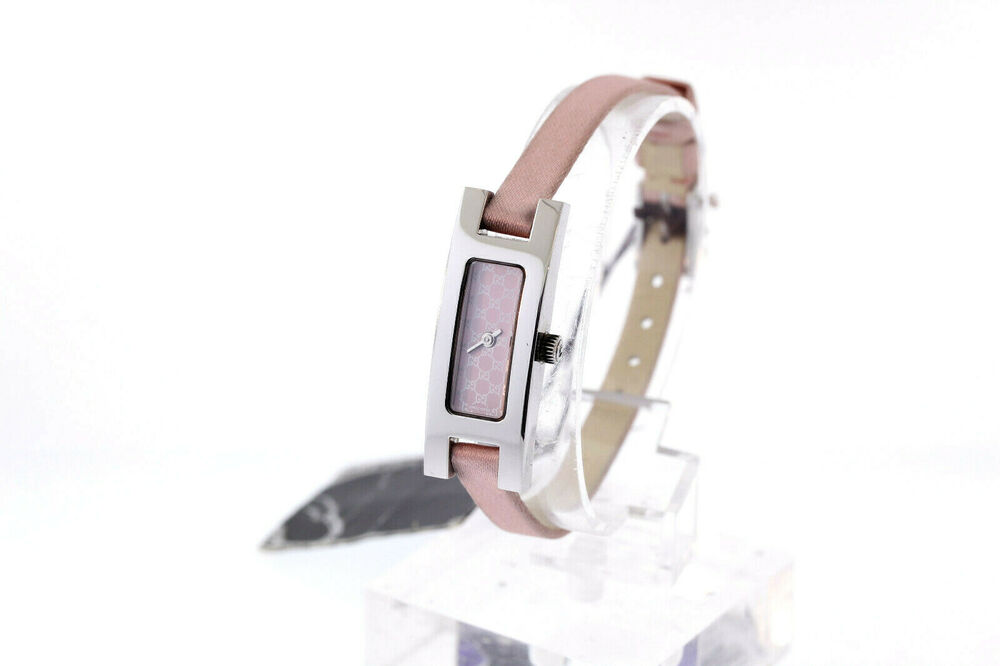 1aa8aea53 Details about Ladies Gucci 3900 Series YA039542 Pink Dial Light Pink Satin  Strap Watch