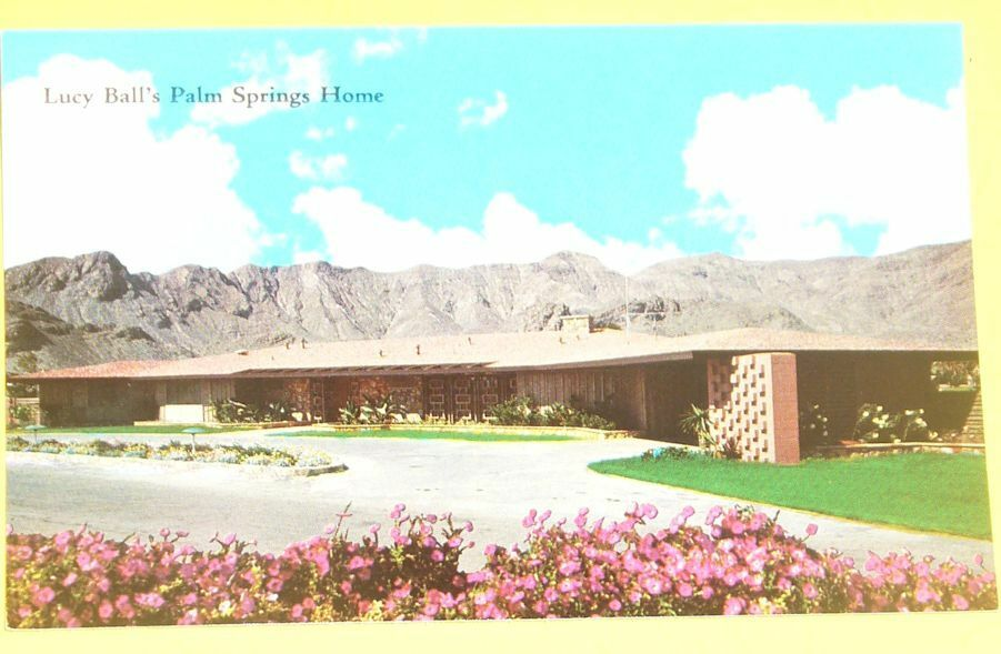 Lucille Ball 39 S House Palm Springs Ca Early 1981 Postcard