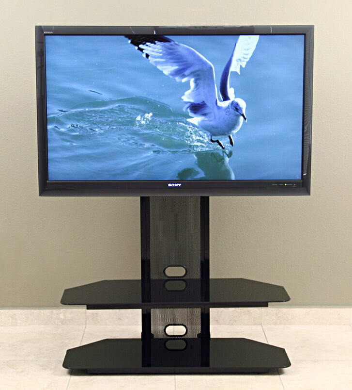 transdeco led lcd tv stand w mount for up to 60 inch lcd led televison new ebay. Black Bedroom Furniture Sets. Home Design Ideas