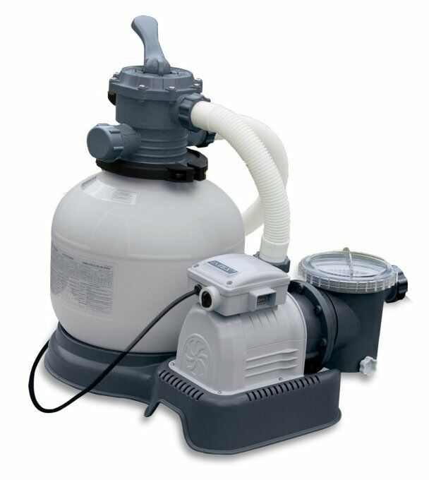 Intex krystal clear 2800 gph above ground pool sand filter pump 28647eg ebay for Swimming pool pumps for above ground pools