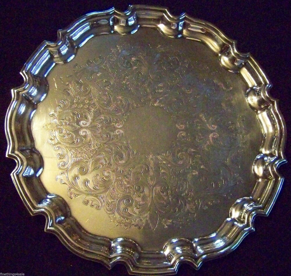 VINTAGE ENGLISH SILVER - CHIPPENDALE CHASED SHEFFIELD ...