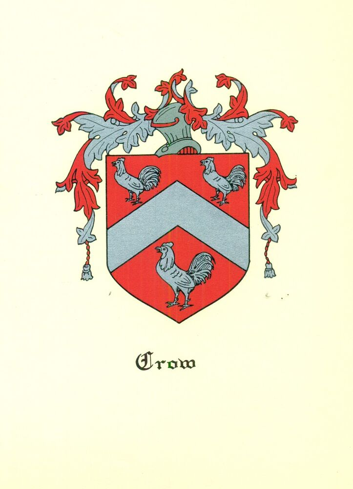 great coat of arms crow family crest genealogy  would look