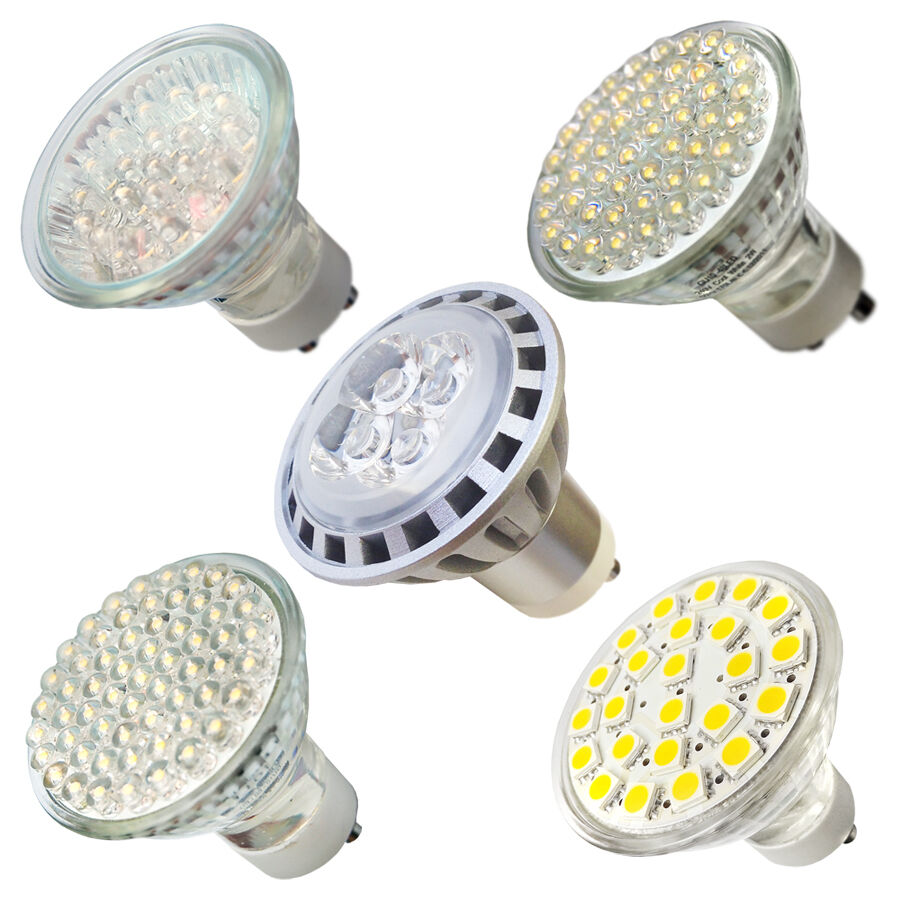 Gu10 Light Bulbs 3 21 48 60 Led Smd Bulb 20w 35w 40w 50w 60w Halogen Replacement Ebay
