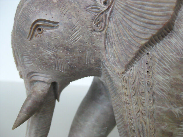 Stone elephant quot carving amazing unique work of art ebay