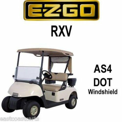 ezgo rxv fold down street legal as4 dot windshield ebay. Black Bedroom Furniture Sets. Home Design Ideas