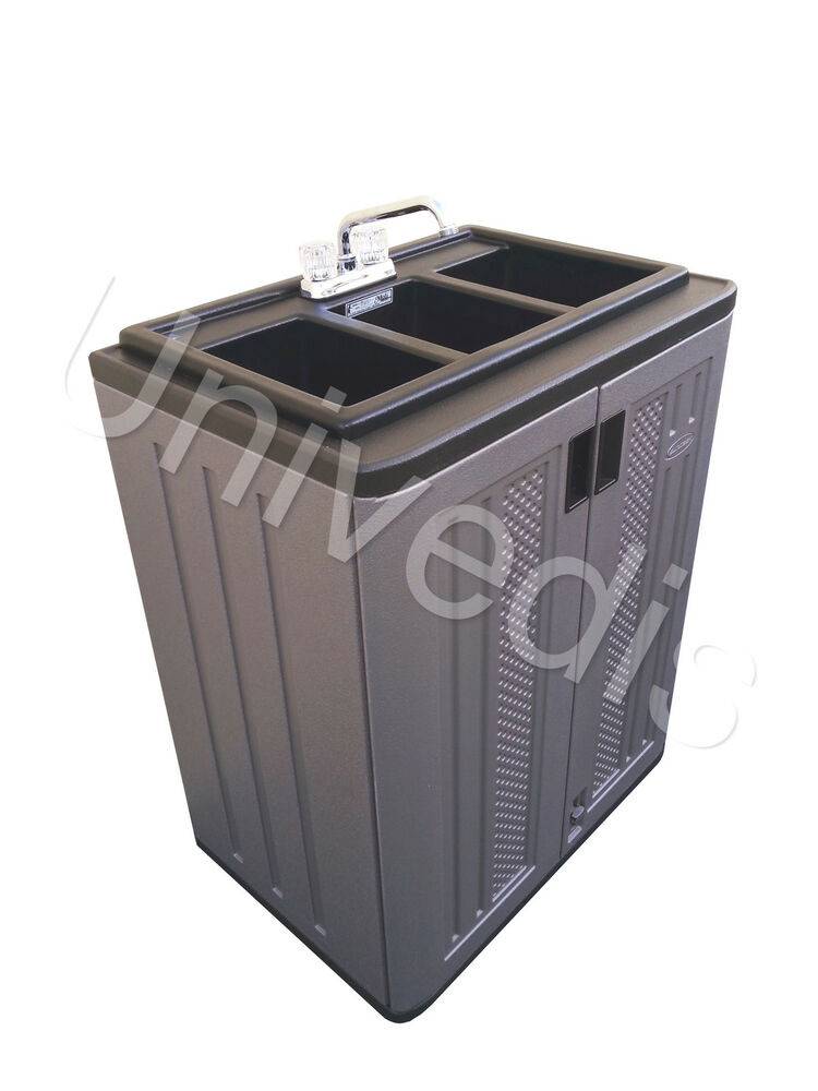 Portable Sink Self Contained 3 Compartment 653395475399 Ebay