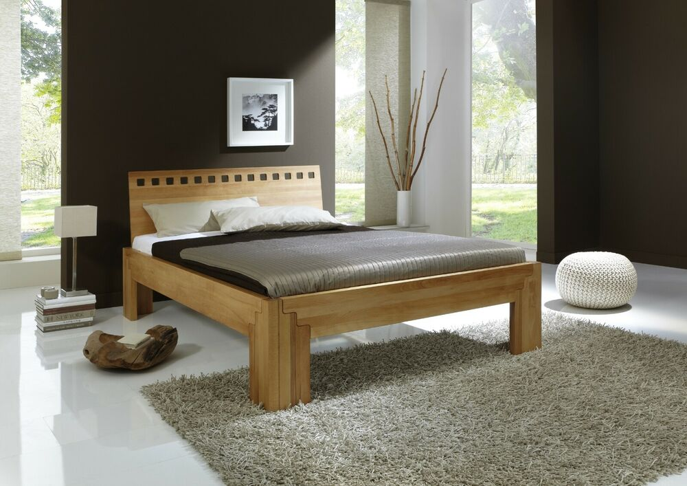 bett stella buche massiv metallfreies stecksystem massivholzbett holzbett ebay. Black Bedroom Furniture Sets. Home Design Ideas