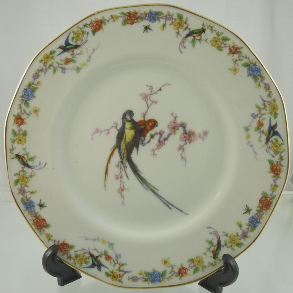 ARCADIA With Birds DINNER PLATE BY THEODORE HAVILAND