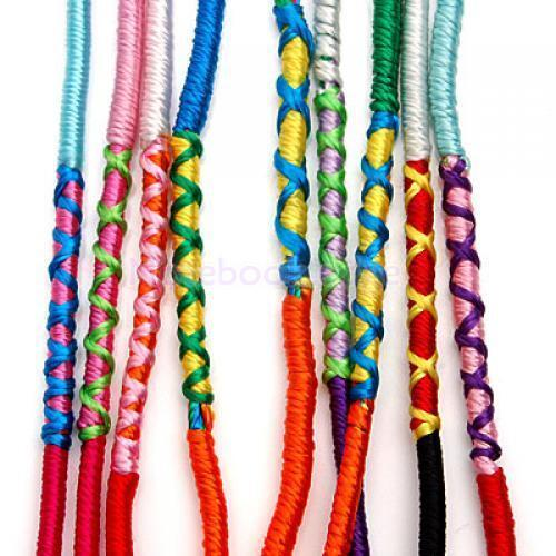 string bracelet right wrist 9pcs rainbow handmade thread string ankle wrist friendship 3842
