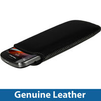 Black Genuine Leather Pouch for BlackBerry Bold Touch 9900 9930 Case Cover