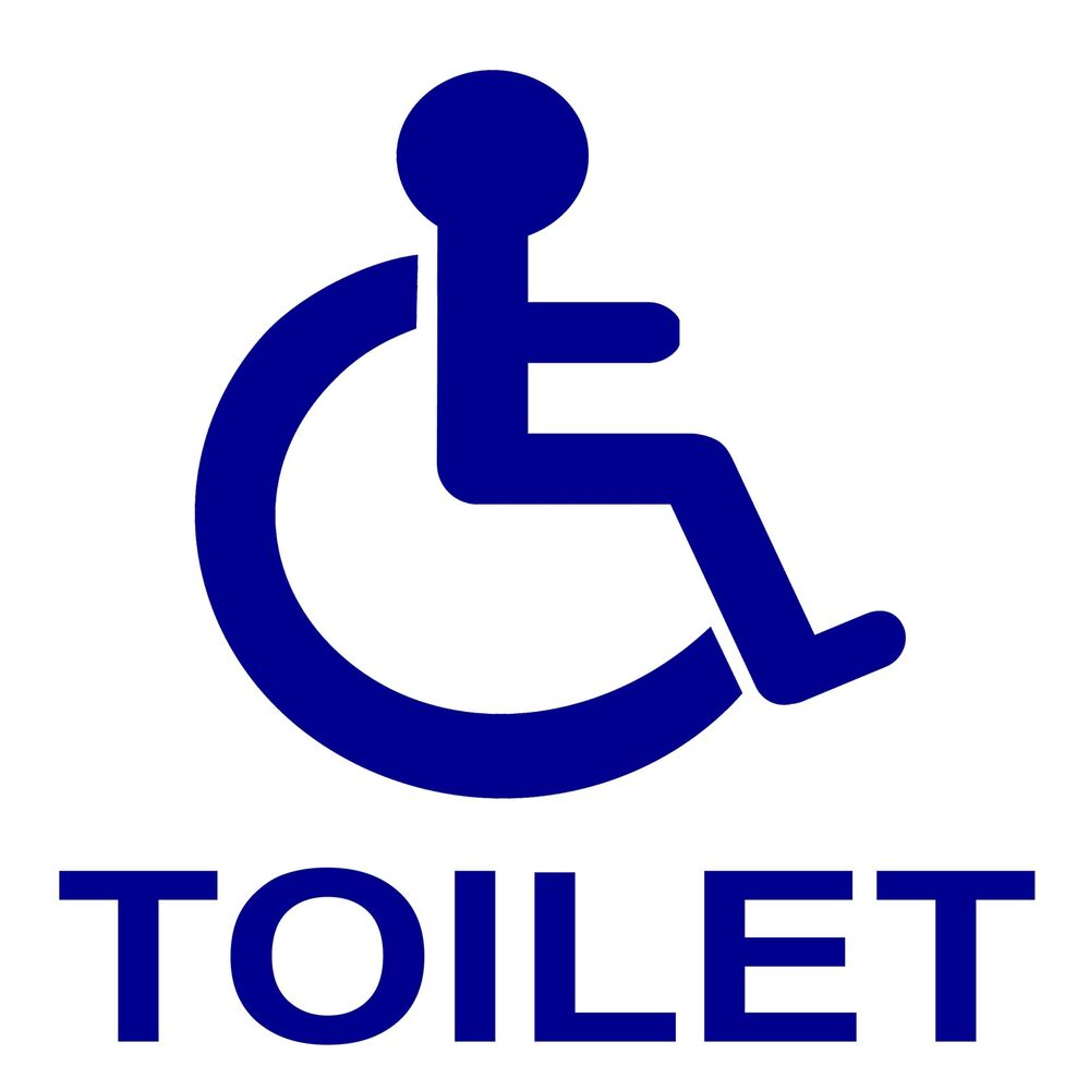 Boat Bathroom Signs: 1 X Disabled Toilet WC Bathroom Sticker-Disability