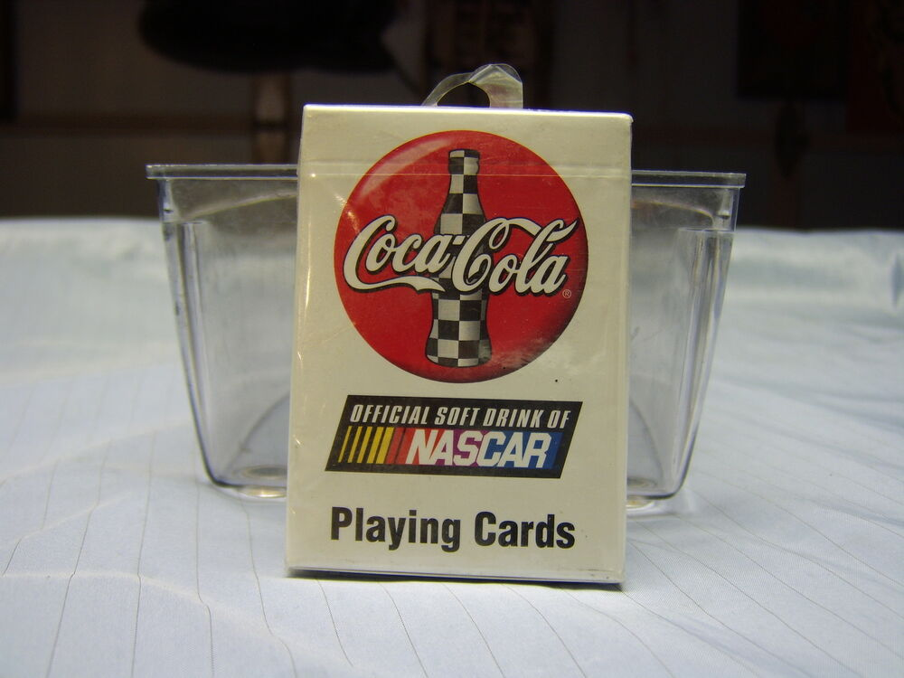 1 sealed deck bicycle brand uspcc usa coca cola nascar playing cards from 1999 ebay. Black Bedroom Furniture Sets. Home Design Ideas