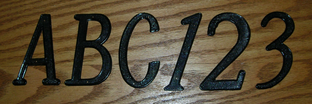 House street address nail on metal zinc letters numbers for Black metal house letters