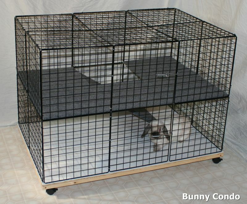 indoor rabbit bunny condo cage handmade pen home hutch. Black Bedroom Furniture Sets. Home Design Ideas