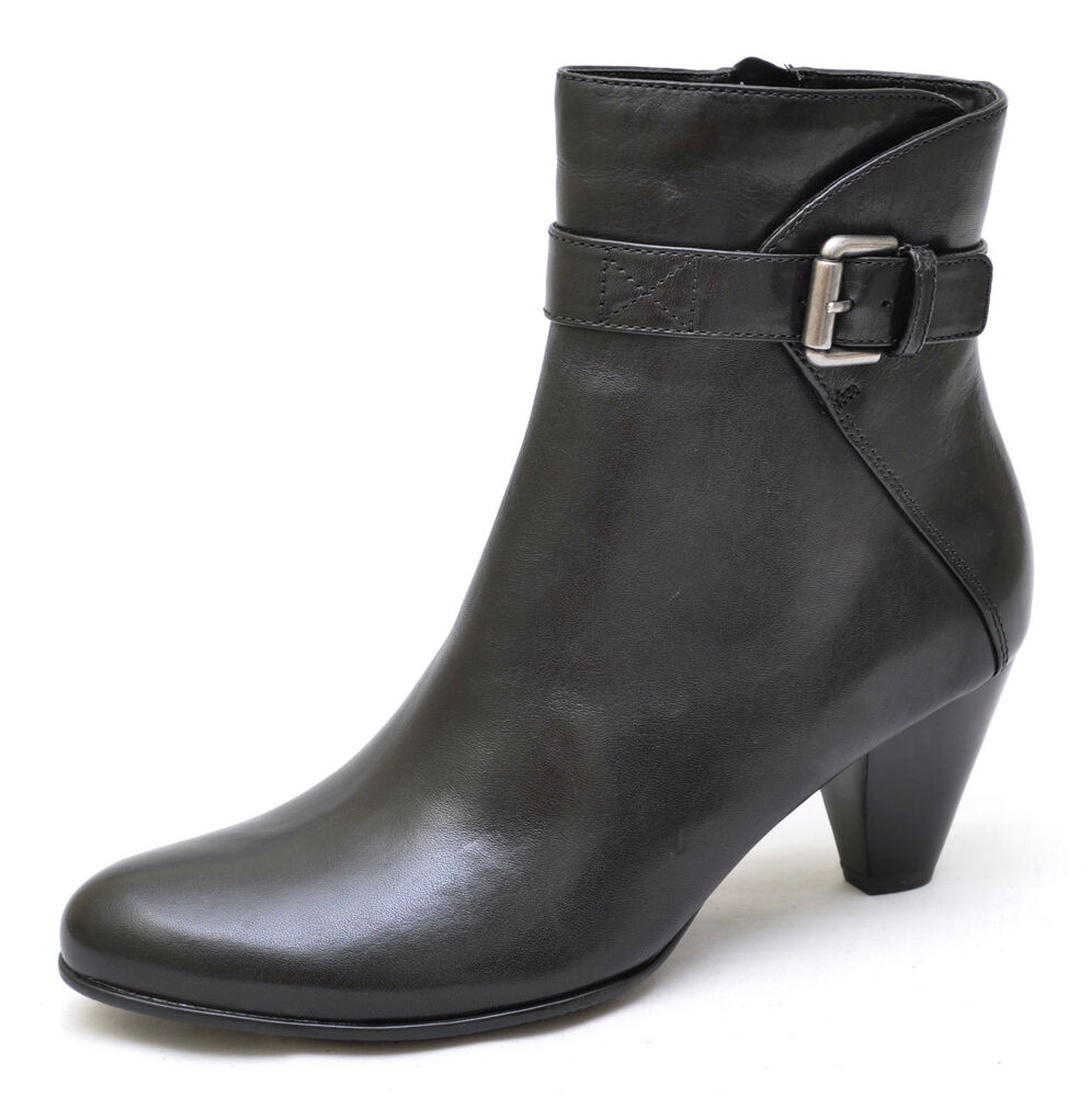 ecco black leather ankle boots s new ebay