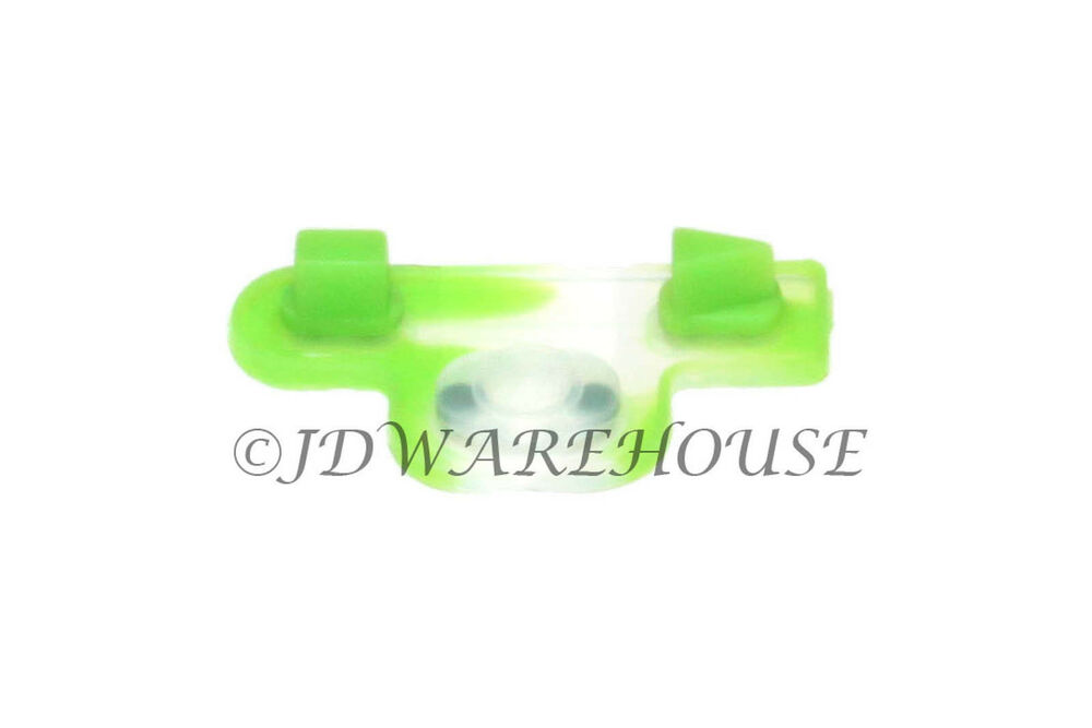green ps3 controller rubber start select button contact