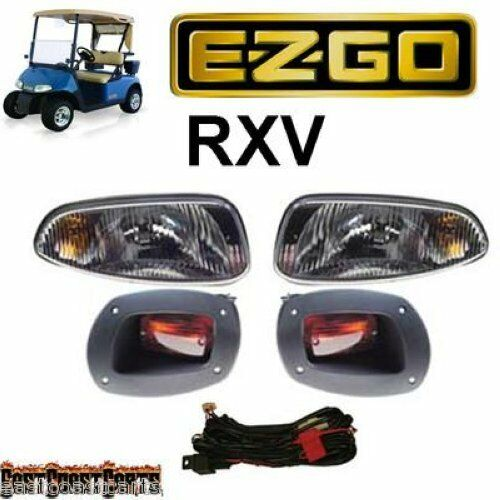 Golf Cart Headlights : Ezgo rxv golf cart basic light kit halogen headlight s