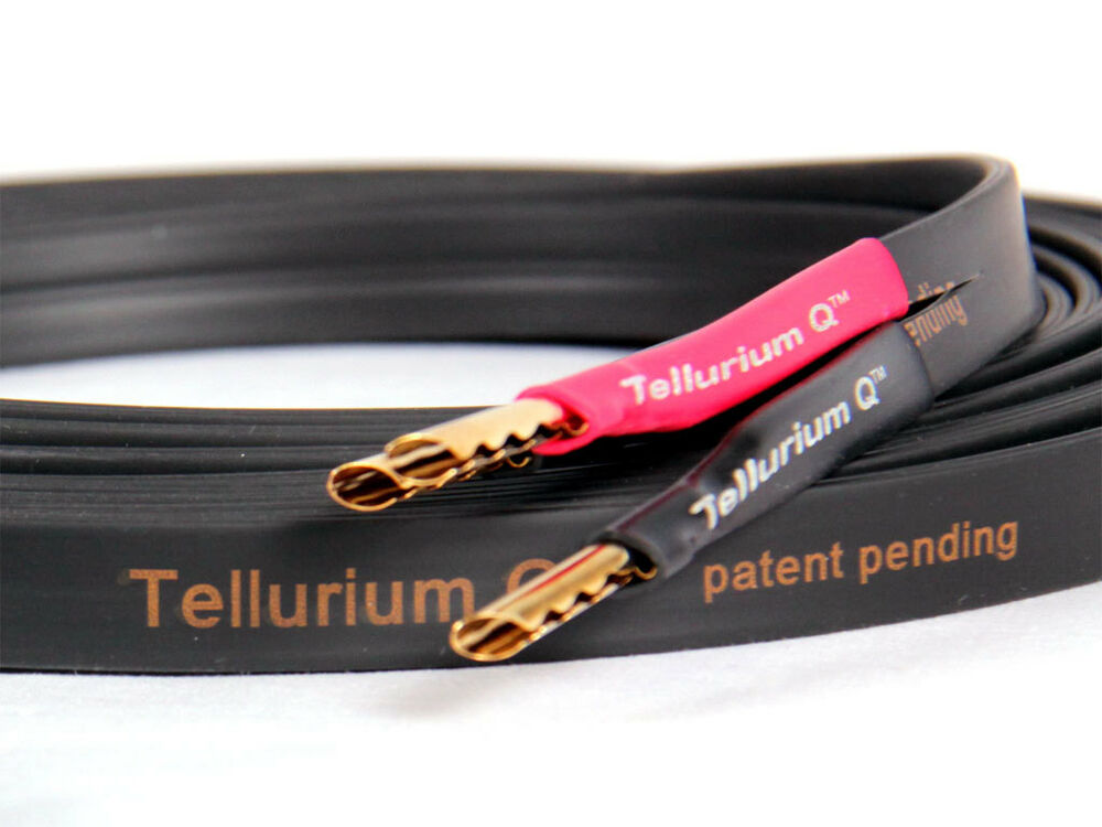 tellurium q black ii speaker cables 2 metre stereo pair free cable burn in ebay. Black Bedroom Furniture Sets. Home Design Ideas