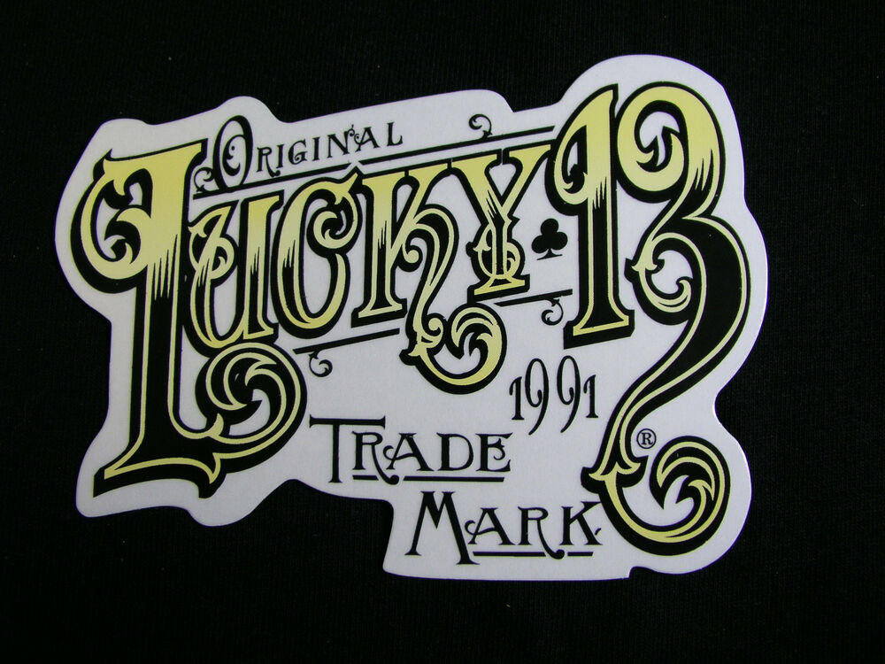 13 Tattoo Artists Share Some Of The Beautiful Flower: Lucky 13 Pin Up Street Gothic Americana Tattoo Art Sticker