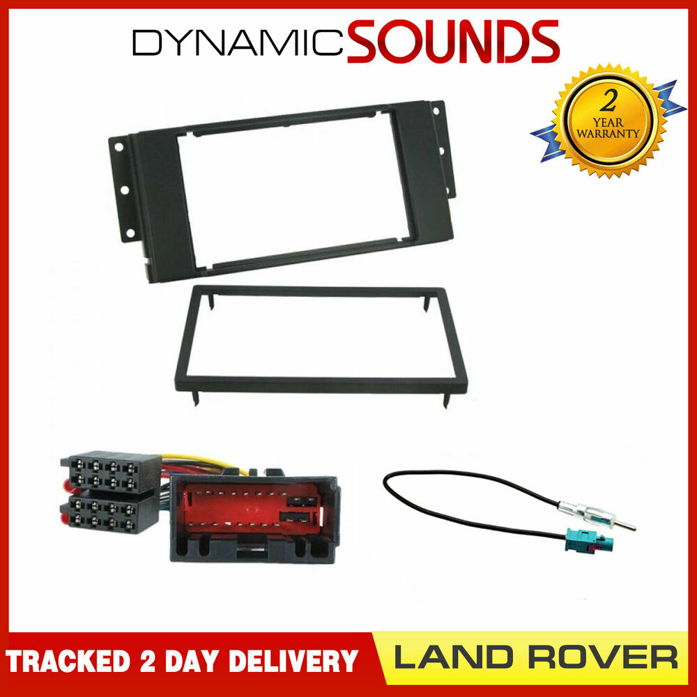 discovery 3 stereo double din cd stereo fitting kit fascia wiring iso for land rover discovery 3