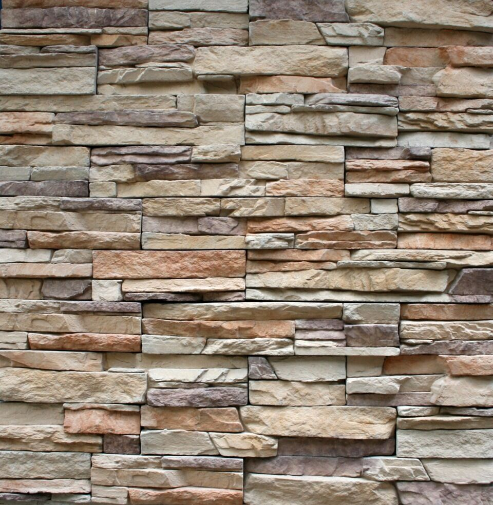 Ledgestone Cultured Veneer Stacked Stone Manufactured Panels For Walls Ebay