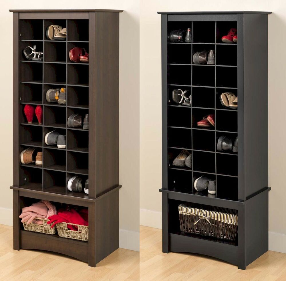 Tall Shoe Cubbie Storage Cabinet For Entryway Mudroom