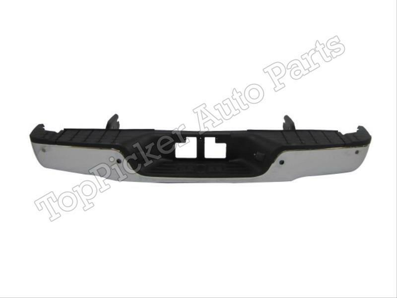 new rear step bumper chrome 2007 2012 toyota tundra with holes brackets pad assy ebay. Black Bedroom Furniture Sets. Home Design Ideas