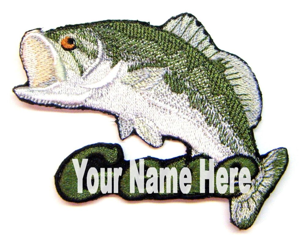 Bass Fishing Custom Iron On Patch With Name Personalized Free Ebay