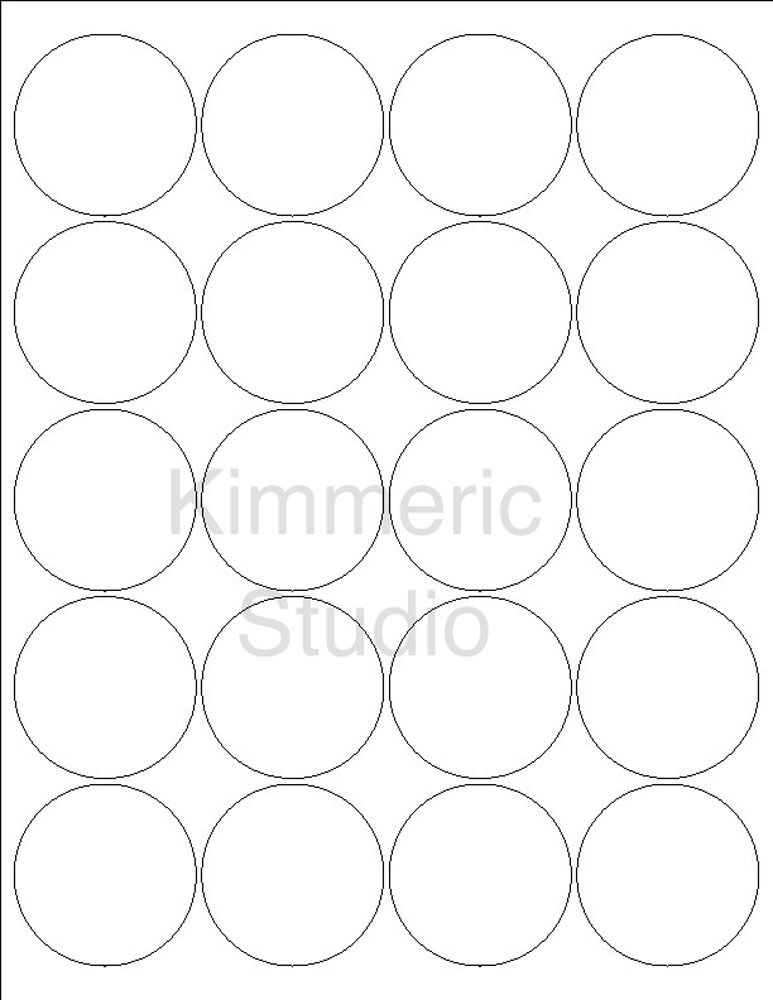 6 sheets 2 inch round blank white stickers labels 120 for Half inch round labels
