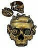 Ring In The Steampunk Decor To Pimp Up Your Home: STEAMPUNK ANTIQUE SKULL JEWELRY BOX VINTAGE STATUE COOL