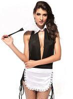 Saucy Womens French maid fancy dress waitress servant wench costume outfit 8-10