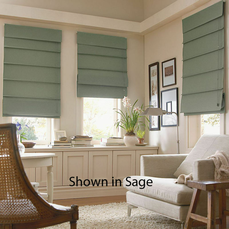Fabric Blinds And Shades : Fabric roman window shades color choices fast free