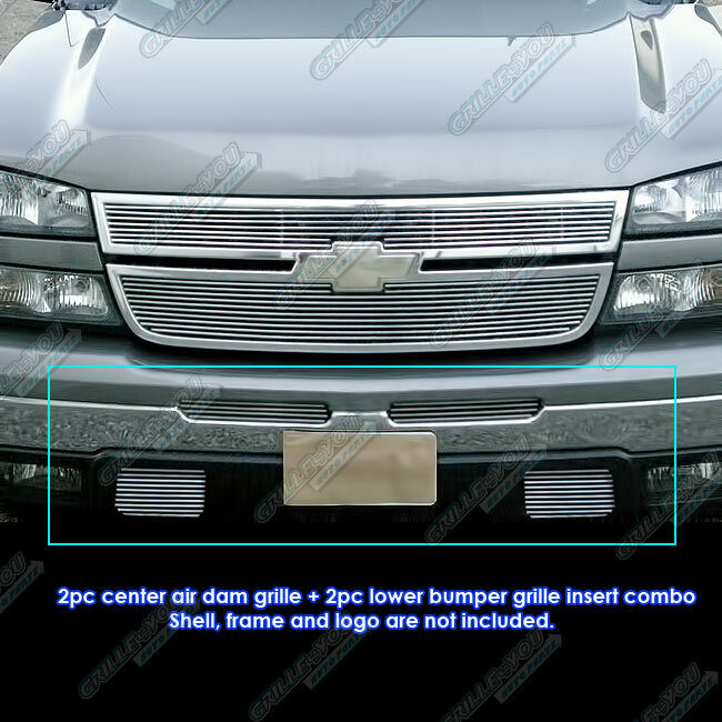 fits 03 06 chevy silverado 1500 2500 billet grille combo ebay. Black Bedroom Furniture Sets. Home Design Ideas