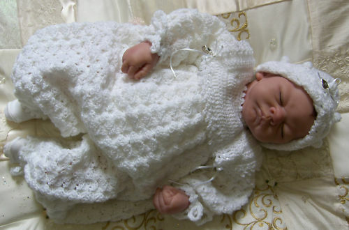 Crochet Pattern Baby Heirloom Christening Suit Set Ebay