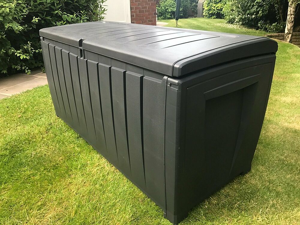 Keter Garden Deluxe Storage Box With Sit On Lid XL Size