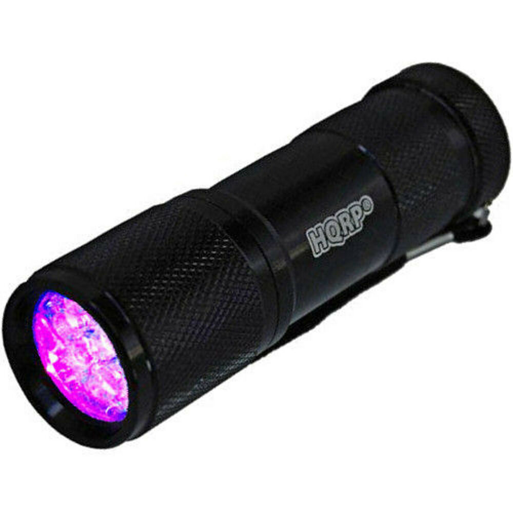 Fluorescent Light Delayed Start: HQRP Fluorescent Flashlight Mineral Rocks Long Wave Lamp