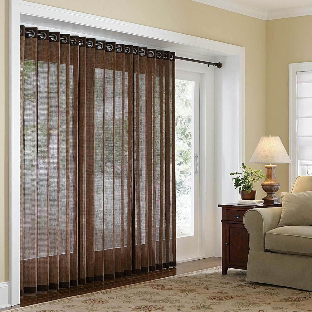 Naples Bamboo Grommet Panels - Three Lengths - Four Color ... on Patio Cover Decorating Ideas id=17191