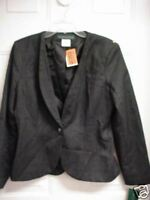 NEW LADIES WOMENS HARVE BENARD CHARCOAL GRAY JACKET BLAZER LINED CAREER SIZE 10