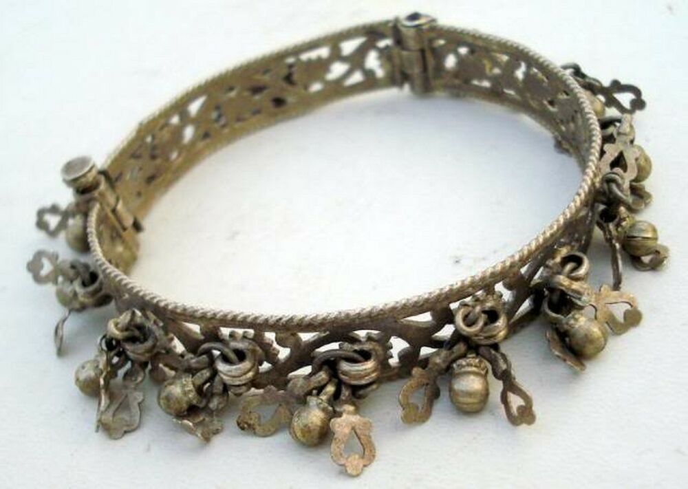 vintage antique tribal silver bracelet bangle india ebay