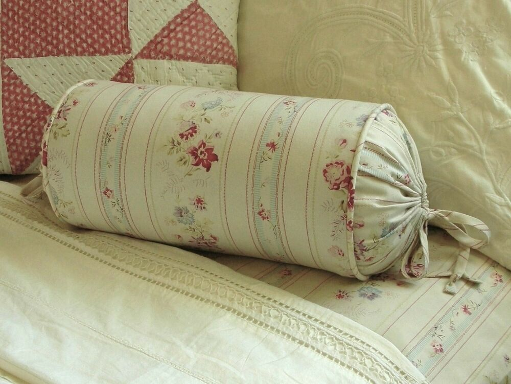 Decorative Bed Roll Pillows : NEW Custom Ralph Lauren Josie Neckroll Pillow Neck Roll eBay