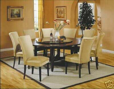 72 6 ft round dining table set 8 chairs furniture ebay for 6ft round dining table
