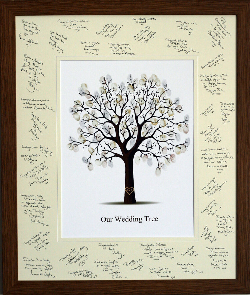 Guest Signing Signature Frame With Fingerprint Tree